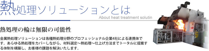 About heat treatment solution